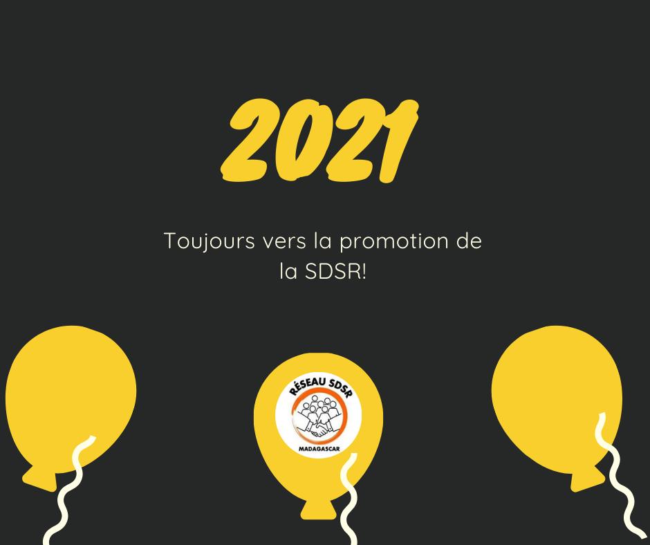 2021: Toujours vers la promotion de la SDSR