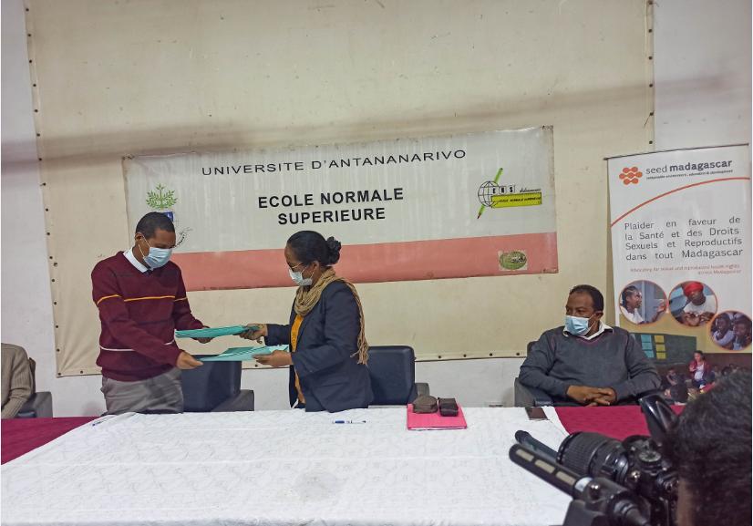 Collaboration de SEED Madagascar et ENS sur l'intégration des thématiques de la SDSR dans les modules de formation
